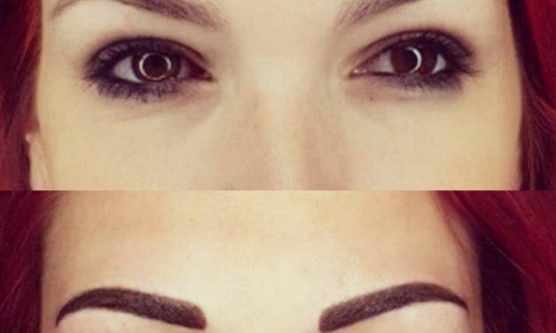 Cliente de Chatillon sur Chalaronne Maquillage permanent sourcils poudrés non cicatrisés Forme naturelle