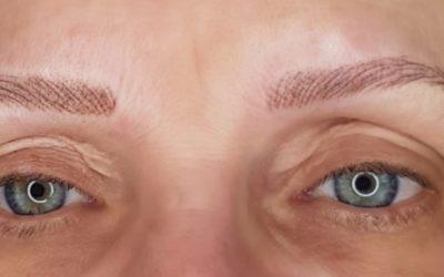 Creation ligne sourcilière complète. Cliente qui n'avait plus aucun poil suite à un traitement médicamenteux. Technique maquillage permanent «poil à poil «. Résultat hyper-réaliste.