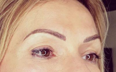 Maquillage permanent sourcils poil à poil. Cliente villefranche sur Saône.