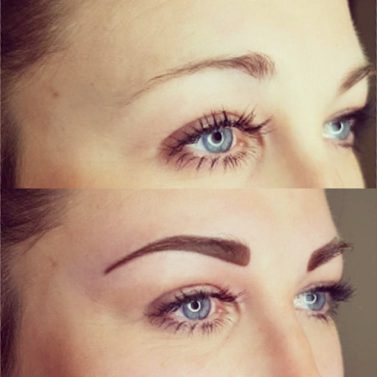 Voici la gagnante du concours facebook, qui a reporté un maquillage permanent des sourcils . Nous avons choisi un poudré, elle est plus que ravie,  d'où sa recommandation sur ma page Facebook.